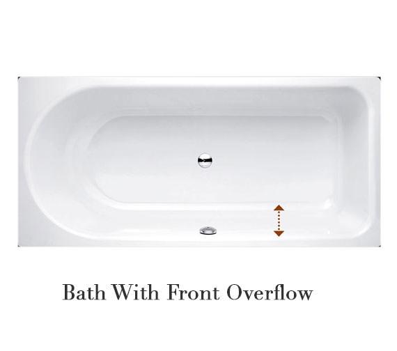 Bette Ocean Low Line Super Steel Bath With Overflow 1600 x 700mm