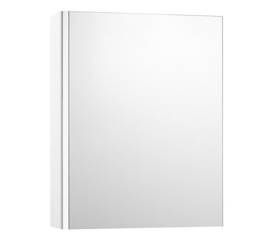Roca Mini Mirrored Cabinet 450mm Wide - Gloss White Finish