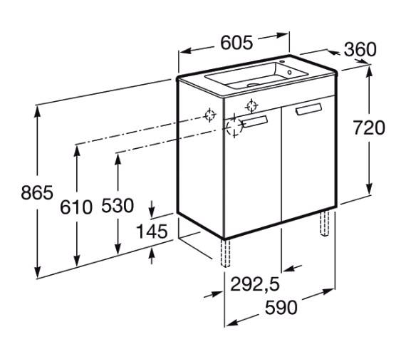 Technical drawing QS-V83990 / 855900155