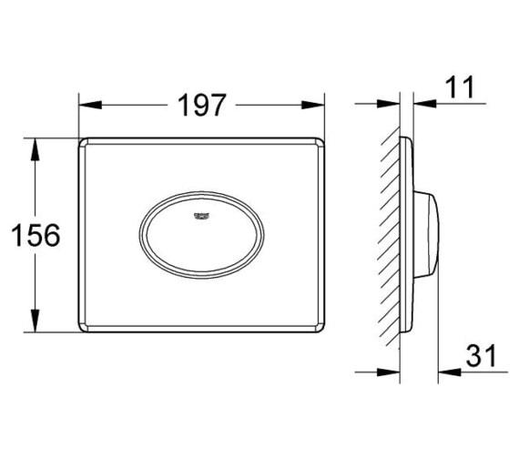 Technical drawing QS-V29156 / 38565000