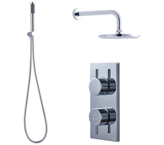Crosswater Kai-Central Digital Handset Kit And Overhead Shower Pack 06