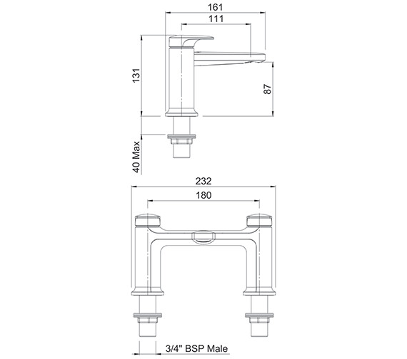 Technical drawing QS-V88092 / AOBFCPUK