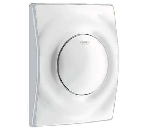Grohe Surf Actuation Wall Mounted Alpine White Flush Plate