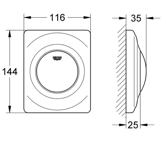 Technical drawing QS-V29162 / 38808SH0
