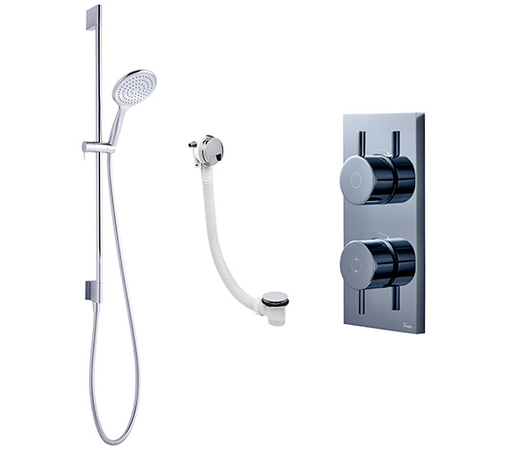 Crosswater Kai-Svelte Digital Bath Filler And Shower Slide Rail Pack 08