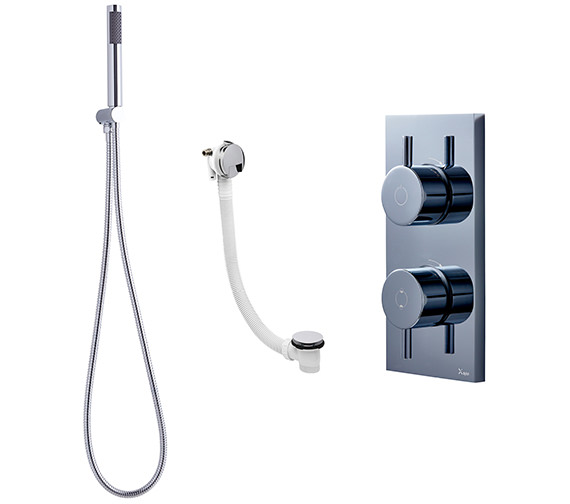 Crosswater Kai Digital Mixer Valve-Bath Filler And Shower Handset Pack 10