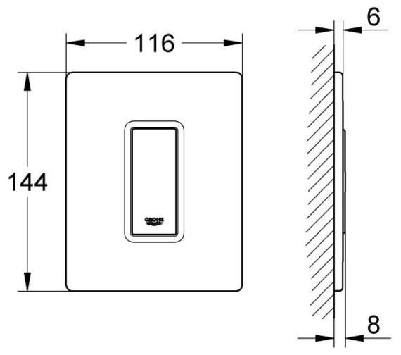 Technical drawing QS-V29164 / 38846LS0