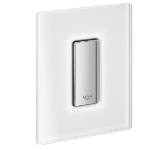 Additional image of Grohe Skate Cosmopolitan Glass Actuation Moon White Flush Plate
