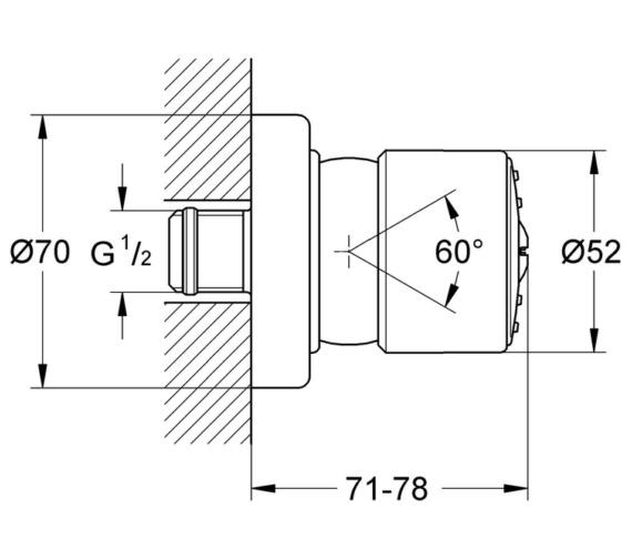 Technical drawing QS-V29180 / 28198000