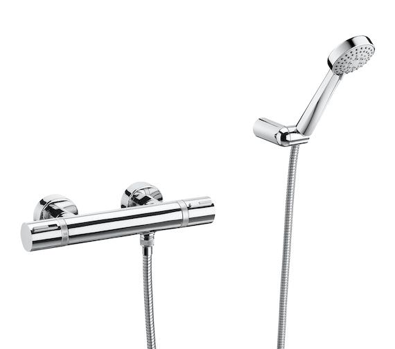 Roca T-1000 Wall Mounted Thermostatic Shower Mixer With Kit