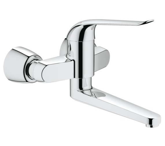 Grohe Euroeco Special Wall Mounted Chrome Basin Mixer Tap