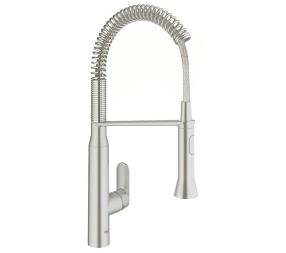 Grohe K7 Footcontrol Electronic Single Lever Kitchen Sink Mixer Tap Supersteel
