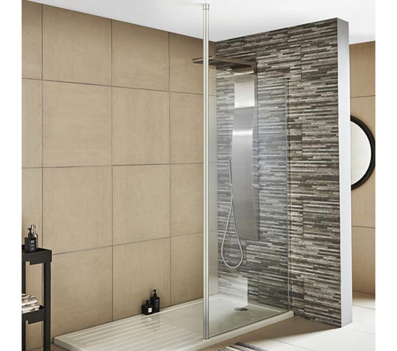 Additional image of Premier Wetroom Walk-In 1400 x 1850mm Shower Panel With Support Bar