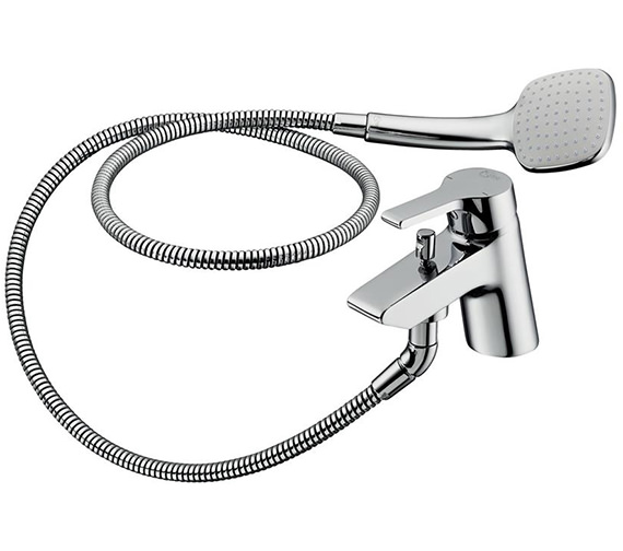 Ideal Standard Active 1 Hole Bath Shower Mixer Tap With Shower Set