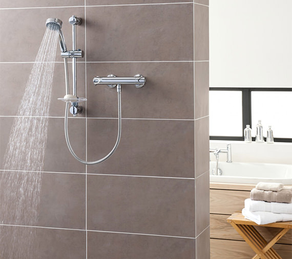 Triton Dene Contemporary Bar Diverter Mixer Shower Set