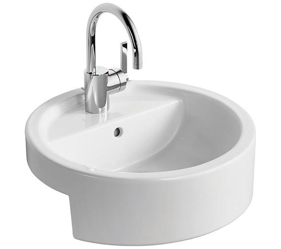 Ideal Standard White 450mm Semi Countertop Washbasin