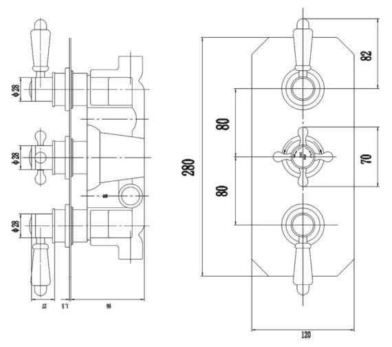Technical drawing QS-V90383 / TSVT005