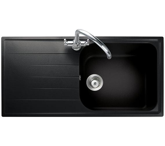 Rangemaster Amethyst 1000 x 500mm Igneous Granite Ash 1.0B Inset Sink