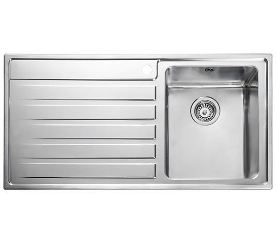 Rangemaster Rockford 985 x 508mm Stainless Steel 1.0B Inset Kitchen Sink