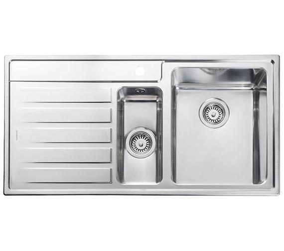 Rangemaster Rockford 985 x 508mm Stainless Steel 1.5B Inset Kitchen Sink