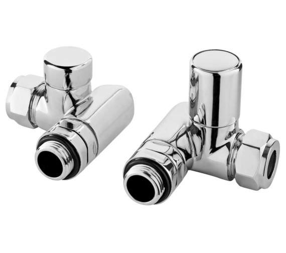 Hudson Reed Minimalist Pair Of Corner Duel Fuel Radiator Valves