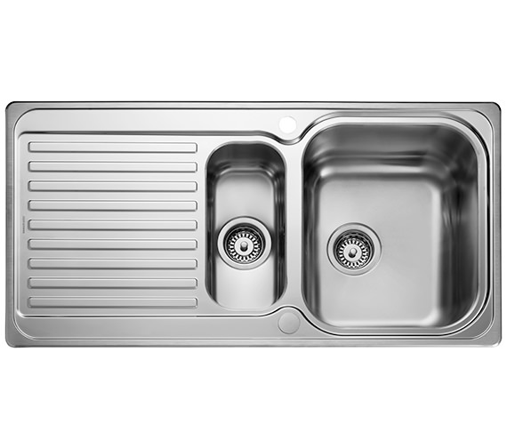 Rangemaster Sedona 985 x 508mm Stainless Steel 1.5B Inset Kitchen Sink