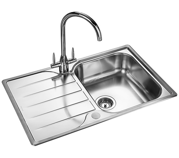 Additional image of Rangemaster Michigan Compact 800 x 508mm Stainless Steel 1.0B Inset Sink