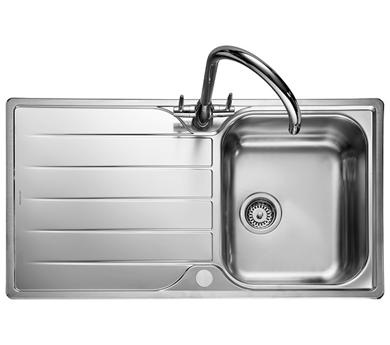 Alternate image of Rangemaster Michigan Compact 800 x 508mm Stainless Steel 1.0B Inset Sink