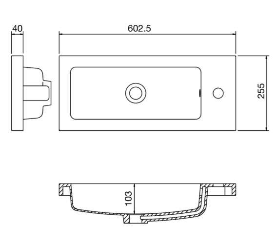 Technical drawing QS-V90193 / PMB303