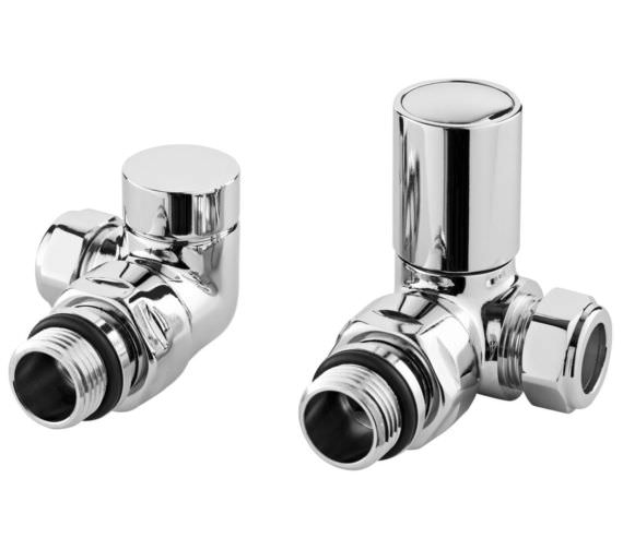 Hudson Reed Minimalist Pair Of Corner Radiator Valves