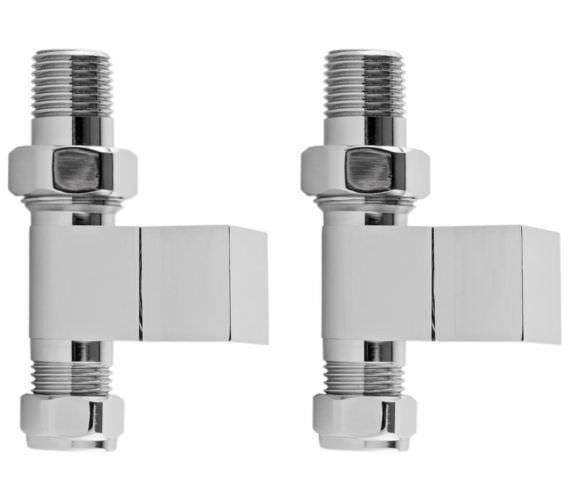 Hudson Reed Pure Pair Of Square Straight Radiator Valves