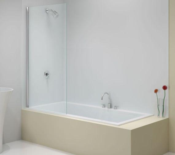 Merlyn Ionic 1500mm Fixed Square Bath Screen Mbo