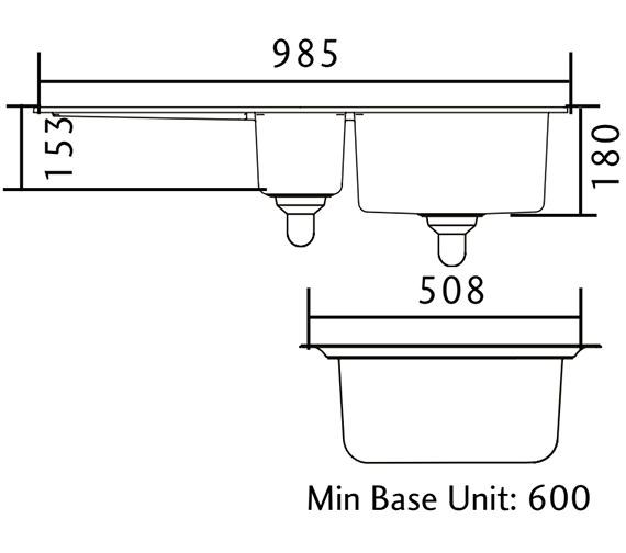 Technical drawing QS-V11051 / CX9852GM/