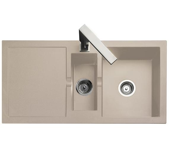 Rangemaster Cubix 985 x 508mm Neo-Rock Granite Oatmeal 1.5B Inset Sink