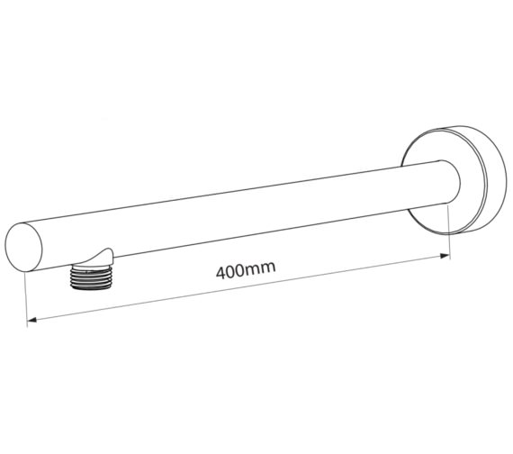 Additional image of Triton Circular Shower Arm