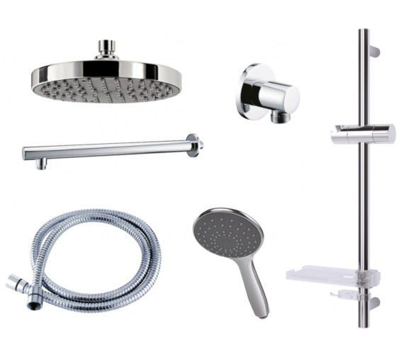 Triton Circular Dual Control Mixer Shower Combination Pack 2