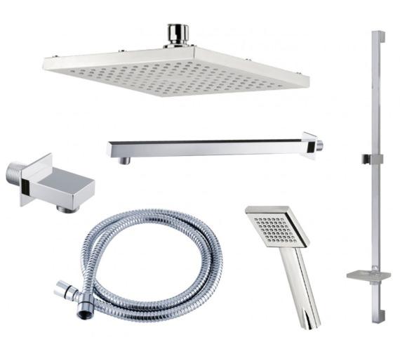 Triton Square Edge Dual Outlet Mixer Shower Combination Pack 4