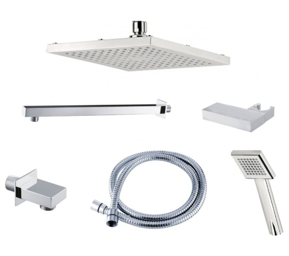 Triton Square Edge Dual Outlet Mixer Shower Combination Pack 3