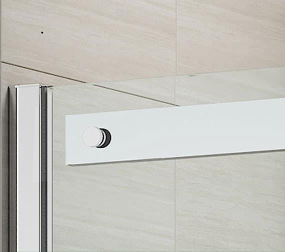 Merlyn ionic gravity 1000mm frameless sliding shower door for 1000mm sliding shower door
