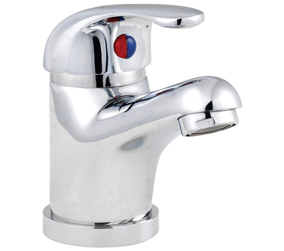Lauren D-Type Mono Basin Mixer Tap With Metal Sprung Waste