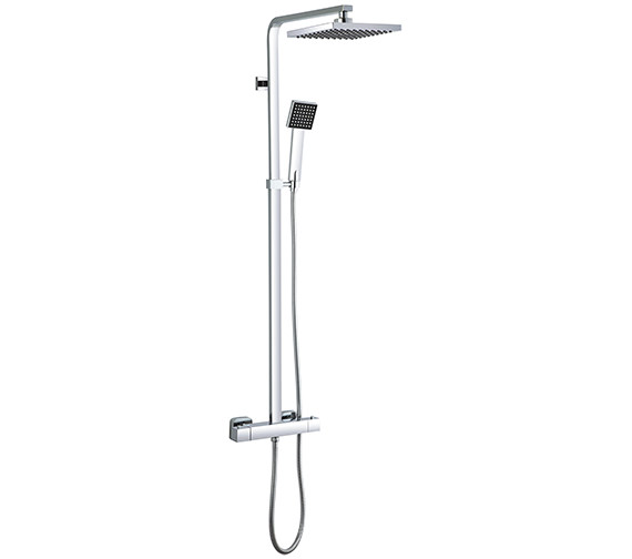 Saneux Tooga Thermostatic Rigid Riser Set With Overhead And Handset
