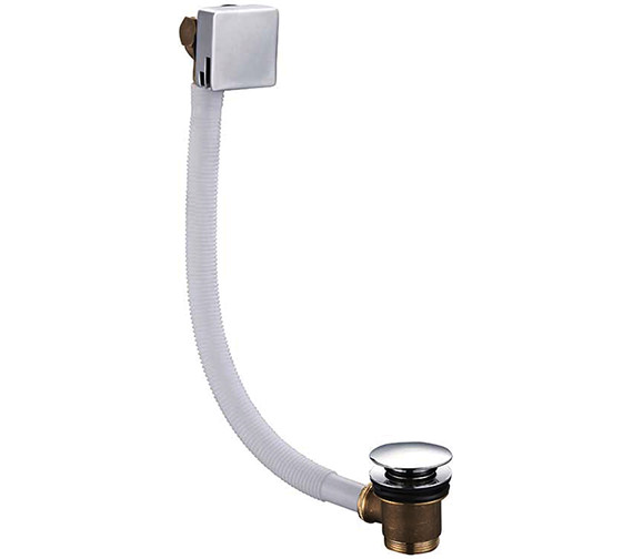 Saneux Tooga Square Bath Filler With Clicker Waste And Overflow