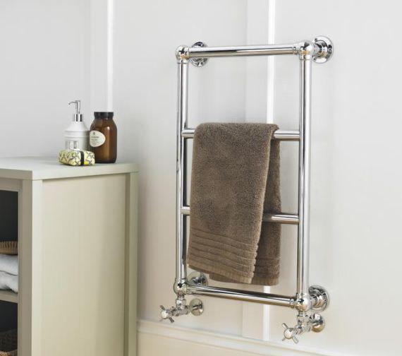 Hudson Reed Epsom 500 x 750mm Wall Mounted Heated Towel Rail