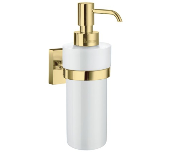 Smedbo House Frosted Glass Soap Dispenser With Holder