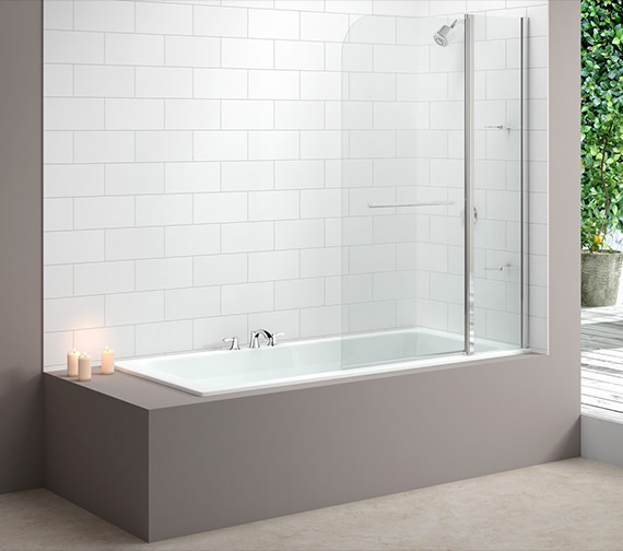 Merlyn Ionic Two Panel Curved Bath Screen 1150 x 1500mm - MB3