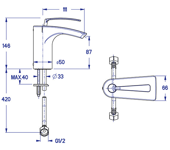 Technical drawing QS-V38000 / ES110DNC