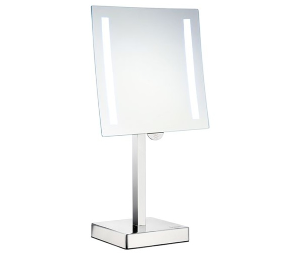 Smedbo Outline Free Standing Shaving And Make Up Mirror With Light