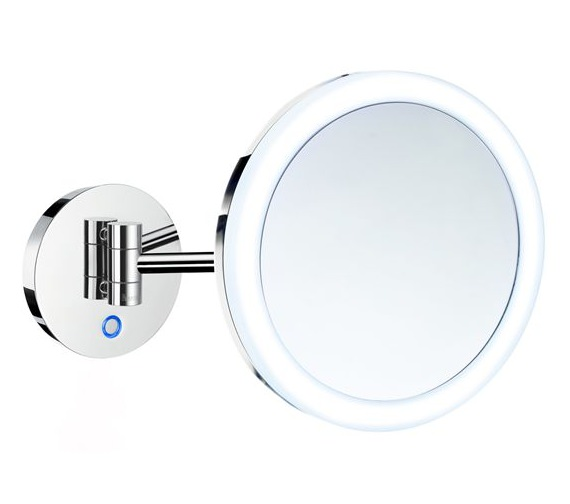 Smedbo Outline Wall Mounted Shaving And Make-Up Mirror With Light