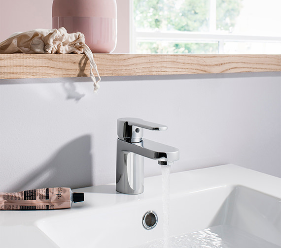 Additional image of Crosswater Central Monobloc Basin Mixer Tap Chrome - CE110DNC
