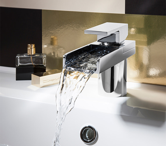 Alternate image of Crosswater Water Square Monobloc Basin Mixer Tap - WS110DNC